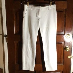 Pre-owned. White Columnist Ankle Pants